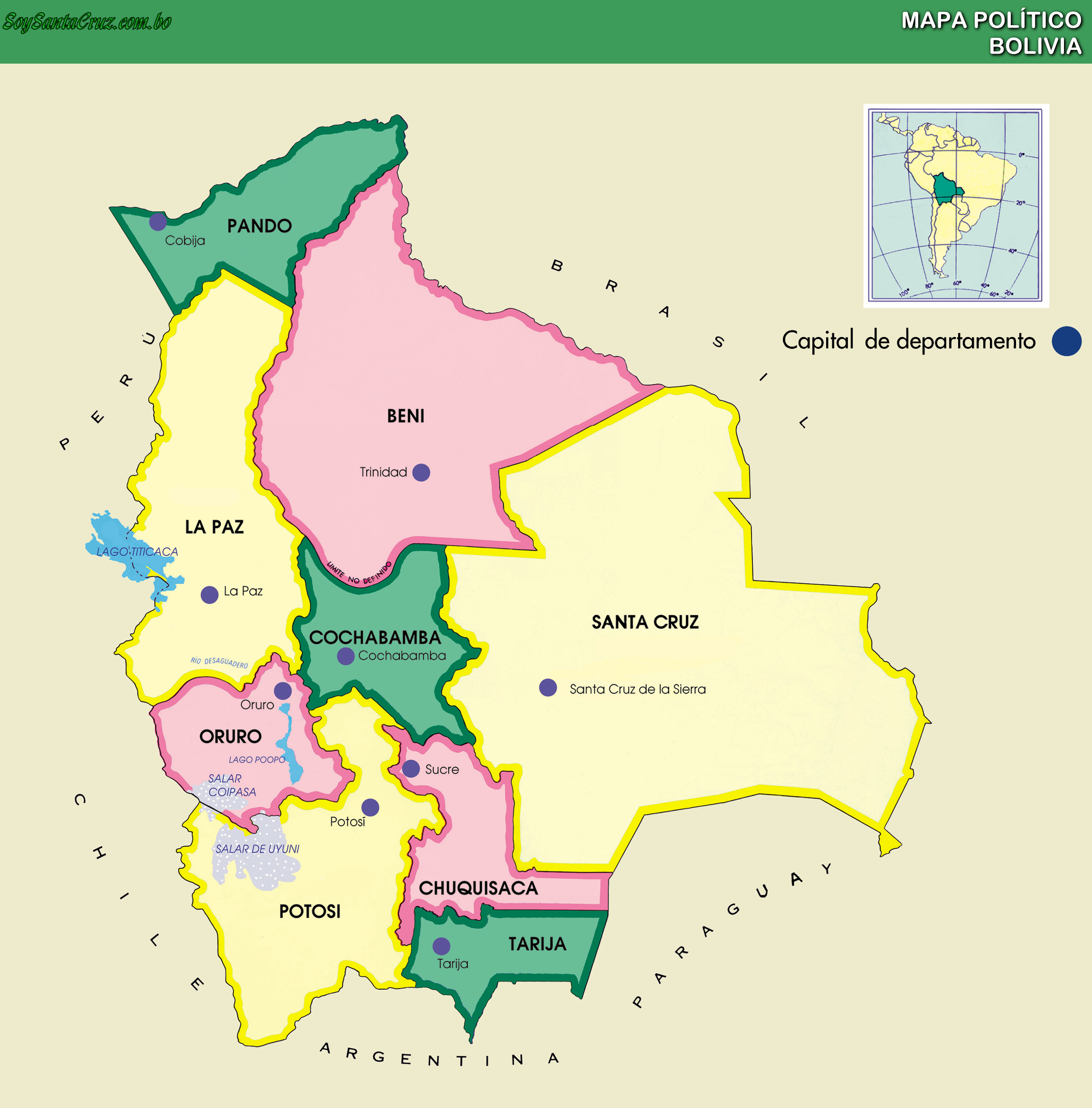 Mapa de Bolivia Online